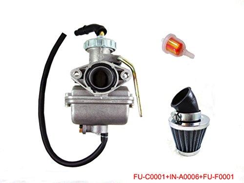 Kids ATV Parts PZ20 20mm Carburetor Air Filter Gas Filter Set for 50cc 70cc 90cc 110cc ATV Go Kart Dirt Bike Honda CRF50 XR50 CRF XR 50 70