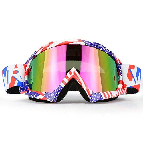 Motorcycle Goggles Dirt Bike ATV Motocross Mx Goggles Glasses for Men Women Youth Kids 8 Color C61