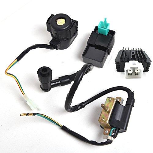 New CDI Box Ignition Coil Solenoid Relay Voltage Regulator for ATV 50cc 70cc 90cc 110cc 125cc Chinese ATV Dirt Bike and Go Kart