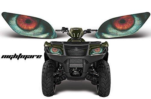 AMR Racing ATV Headlight Eye Graphic Decal Cover for Suzuki King Quad 500 AXi 13-15 - Nightmare