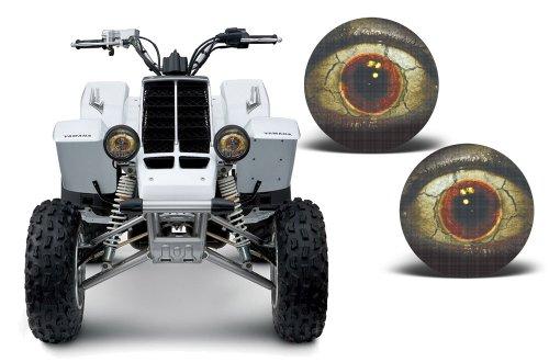 AMR Racing ATV Headlight Eye Graphic Decal Cover for Yamaha Banshee 350 87-05 - Fright