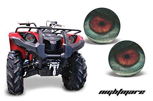 AMR Racing ATV Headlight Eye Graphic Decal Cover for Yamaha Grizzly 660450400350125 - Nightmare