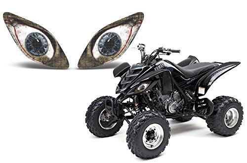 AMR Racing ATV Headlight Eye Graphic Decal Cover for Yamaha Raptor 660 01-05 - Bloodshot