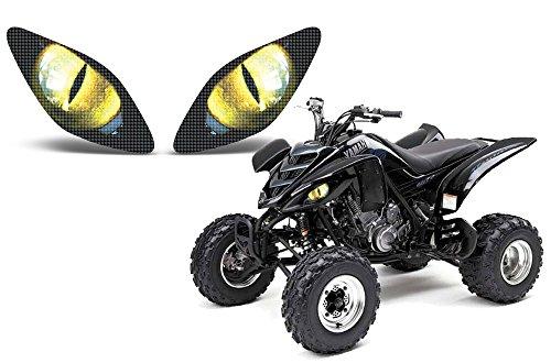 AMR Racing ATV Headlight Eye Graphic Decal Cover for Yamaha Raptor 660 01-05 - Eclipse Yellow