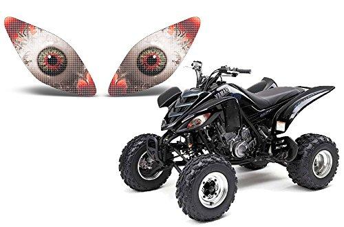 AMR Racing ATV Headlight Eye Graphic Decal Cover for Yamaha Raptor 660 01-05 - Spliced
