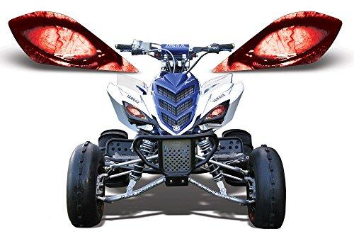 AMR Racing ATV Headlight Eye Graphic Decal Cover for Yamaha Raptor 700250350 - Corrupt