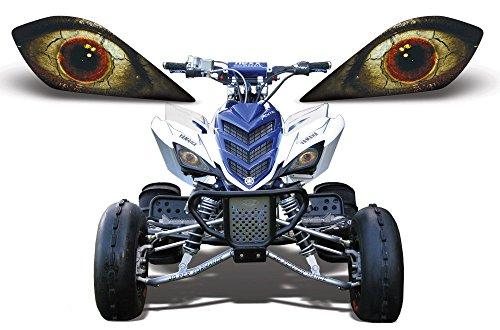 AMR Racing ATV Headlight Eye Graphic Decal Cover for Yamaha Raptor 700250350 - Fright