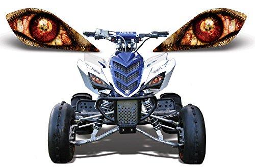 AMR Racing ATV Headlight Eye Graphic Decal Cover for Yamaha Raptor 700250350 - Zipped