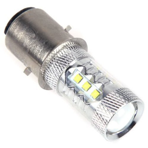 TOOGOOR 16  CREE 80W LED Motor BikeMopedScooterATV Headlight Bulb BA20D H6