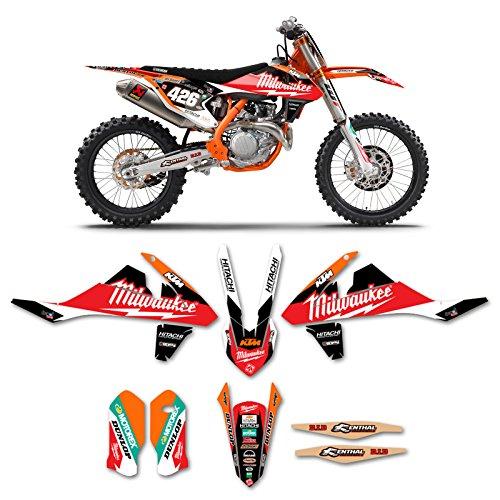 2016-2018 KTM SX-SXF 125-450 MILWAUKEE Motocross Graphics Dirt Bike Decal Kit