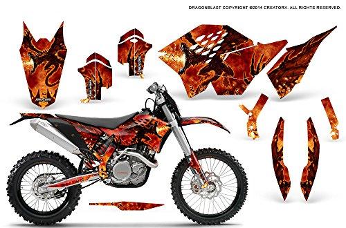 CreatorX KTM Graphics SX SXF 07-10 EXC XCF 08-10-11 XCW 08-10-11 Dragonblast