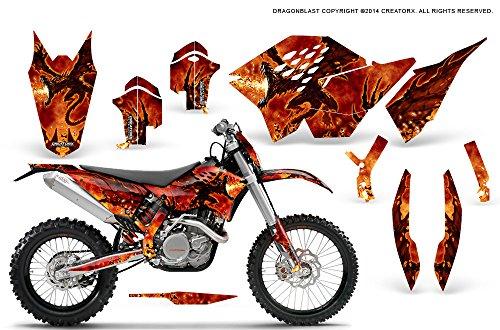 CreatorX KTM Graphics SX SXF 07-10 EXC XCF 08-10-11 XCW 08-10-11 Dragonblast Incl Number Plate Graphics