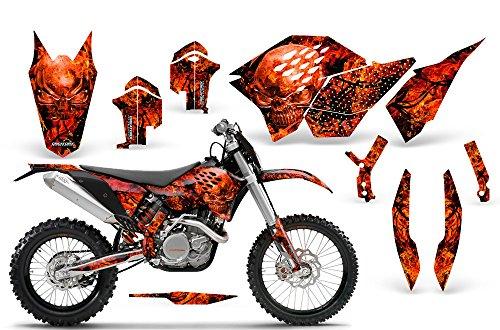 CreatorX KTM Graphics SX SXF 07-10 EXC XCF 08-10-11 XCW 08-10-11 Inferno Red