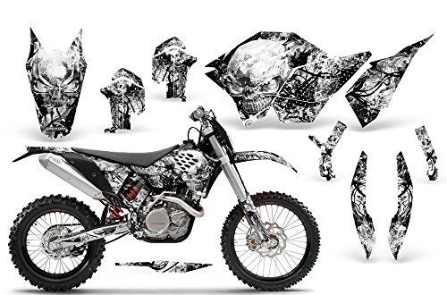 CreatorX KTM Graphics SX SXF 07-10 EXC XCF 08-10-11 XCW 08-10-11 Inferno White