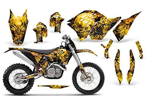 CreatorX KTM Graphics SX SXF 07-10 EXC XCF 08-10-11 XCW 08-10-11 Inferno Yellow