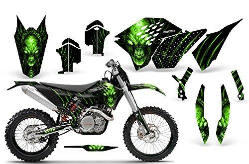 CreatorX KTM Graphics SX SXF 07-10 EXC XCF 08-10-11 XCW 08-10-11 Skull Chief Green