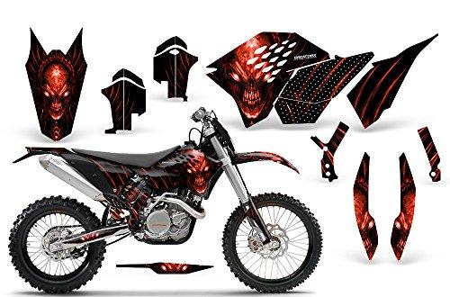 CreatorX KTM Graphics SX SXF 07-10 EXC XCF 08-10-11 XCW 08-10-11 Skull Chief Red