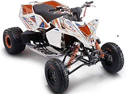 Senge Graphics ALL YEARS KTM 525 XCSX ATV Surge White Graphics Kit
