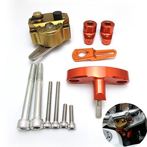 KEMIMOTO 2012 2013 2014 2015 KTM DUKE 200390 Steering Damper Stabilizer Bracket Mount