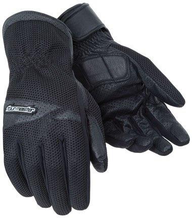 Tourmaster Mens Dri-mesh Black Mesh/leather Gloves - Large