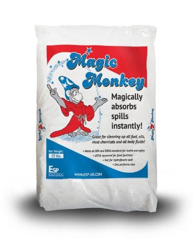 Esp Mm225 Magic Monkey Alumina Silicate Universal Granular Absorbent, 6.25 Gallon Water/11.6 Gallon Oil Absorbency