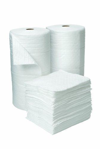 "Oil Eater Aoa-nfrh200-white 28"" X 150' Laminated Fine Fiber Heavy Weight Oil Absorbent Roll"