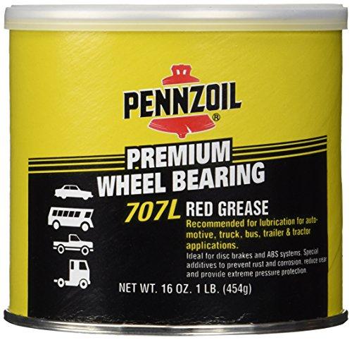Pennzoil 7771 707l Premium Wheel Bearing Red Grease - 1 Lb. Tub