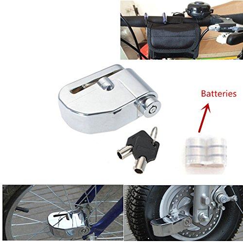 Iztoss 6mm Pin Motorcycle Safety Lock Auto-arm Scooter Moped Anti Thief Wheel Disc Brake Lock Alarm Security Brakes