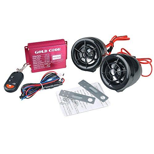 Motorcycle Audio Remote Sound System Sd Usb Mp3 Fm Radio Alarm Anti-theft Handlebar Stereo Speaker