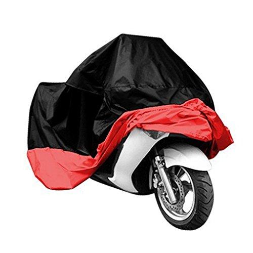 Motorcycle CoverOurdoor CoverWotefusi New One Piece Outdoor Cover For Motorcycle Scooter Bike Motorbike Rain Waterproof Dustproof UV Resistant Protector Anti-scratch Black Red XXXL