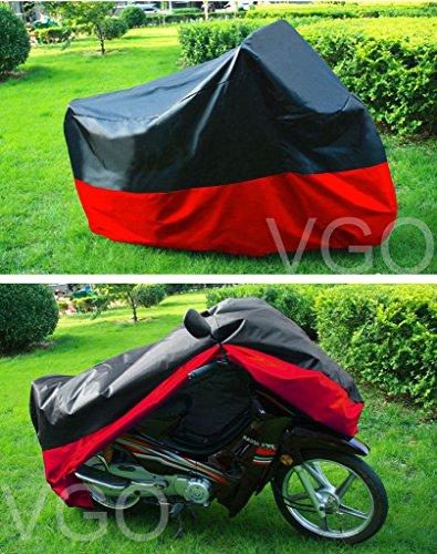Outdoor UV Protector Motorbike Rain Dust Bike Motorcycle Cover L Black Red