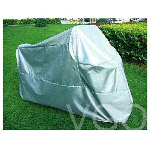 Outdoor UV Protector Motorbike Rain Dust Bike Motorcycle Cover XL Silver