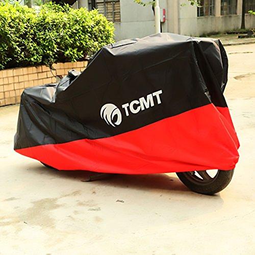 XMT-MOTO UV Protector Waterproof Outdoor Motorbike Rain Dust Bike Motorcycle Cover BLACK&REDXXXL1 PCS