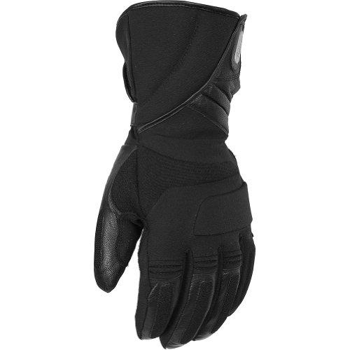 Pokerun Winter Long Men's Textile Cruiser Motorcycle Gloves - Black / Large