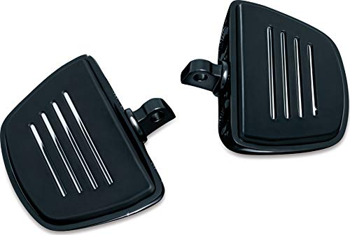 Kuryakyn 7578 Motorcycle Foot Control Component Premium Mini Board Floorboards with Male Mount Adapters Gloss Black 1 Pair
