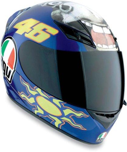 AGV K3 Rossi Donkey Motorcycle Helmet Blue M Medium