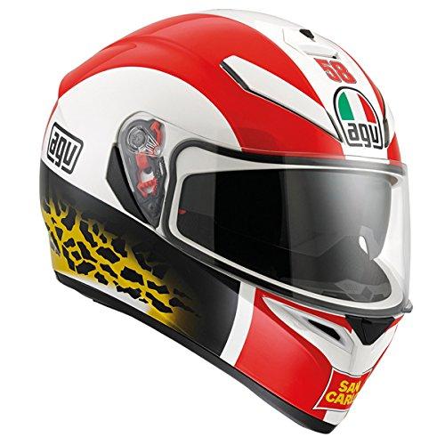 AGV K3 SV Adult Simoncelli Street Motorcycle Helmet - Multi  MediumLarge