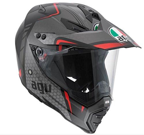 AGV AX-8 Dual Sport Evo Adult Helmet - BlackRedSilver  3X-Large