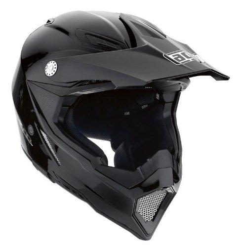 AGV AX-8 EVO Solid Helmet  Size Sm Primary Color Black Distinct Name Black Helmet Type Offroad Helmets Helmet Category Offroad Gender MensUnisex 7511O4C0002005