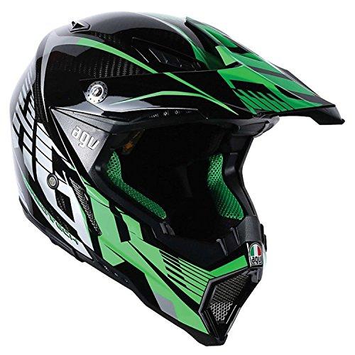 AGV AX-8 Evo Helmet CarbonGreenGray Large