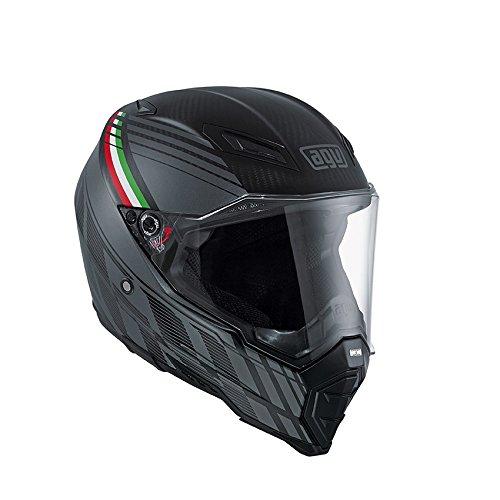 Agv AX-8 Naked Carbon Black Forest Helmet-Multicolor-L