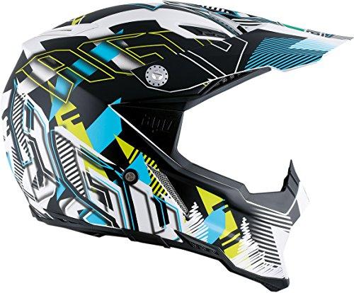 AGV AX-8 Dual Sport Evo Adult Helmet - WhiteCyan  Small