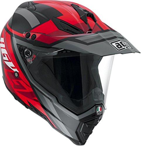 AGV AX-8 Dual Sport Evo Karakum Adult Helmet - BlackRed  2X-Large