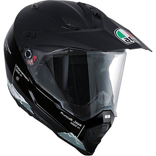 AGV Unisex-Adult AX-8 Dual Sport EVO Helmet BlackWhite Medium