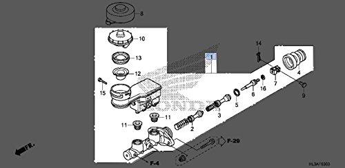 Honda 2014-2017 Pioneer 700 SXS700M2 Master Cylinder 45500-HL3-315 New OEM