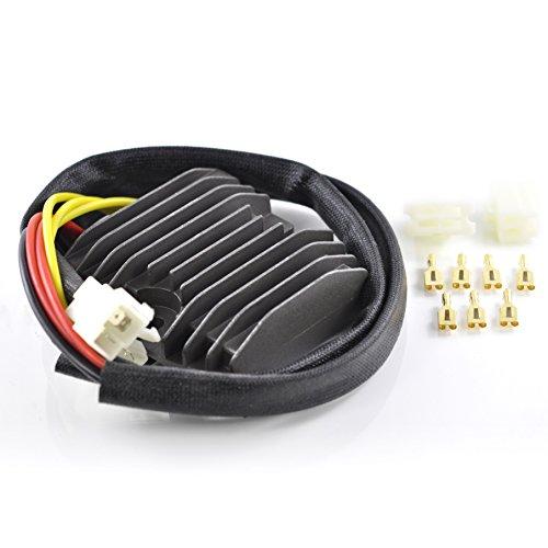 Mosfet Voltage Regulator Rectifier For Ducati 1998-2012 Honda 1986-2015 Suzuki 1997-2012 ATV Honda 2011-2014 OEM Repl 31600-MBG-305 31600-ML7-008 31600-MN4-008 31600-MN4-018 31600-MZ5-003