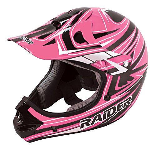 Raider Youth Kids Rush MX Motocross ATV Off-Road Helmet Girls Helmet Pink Small