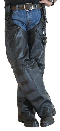 Missing Link Black Ops Leather Hook Chaps Black XXX-Large