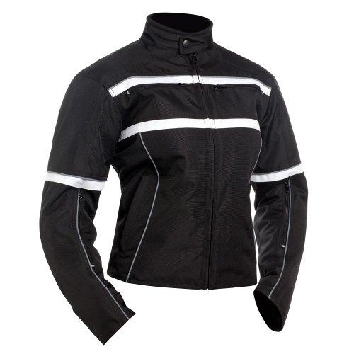 Bilt Women's Helia Waterproof Vented Textile Motorcycle Jacket - 2xl, Black/white