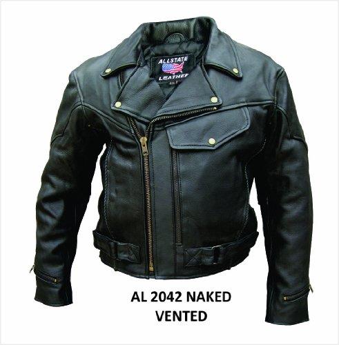 Men's Al2042 Vented Jacket With Braid Trim 48 Black